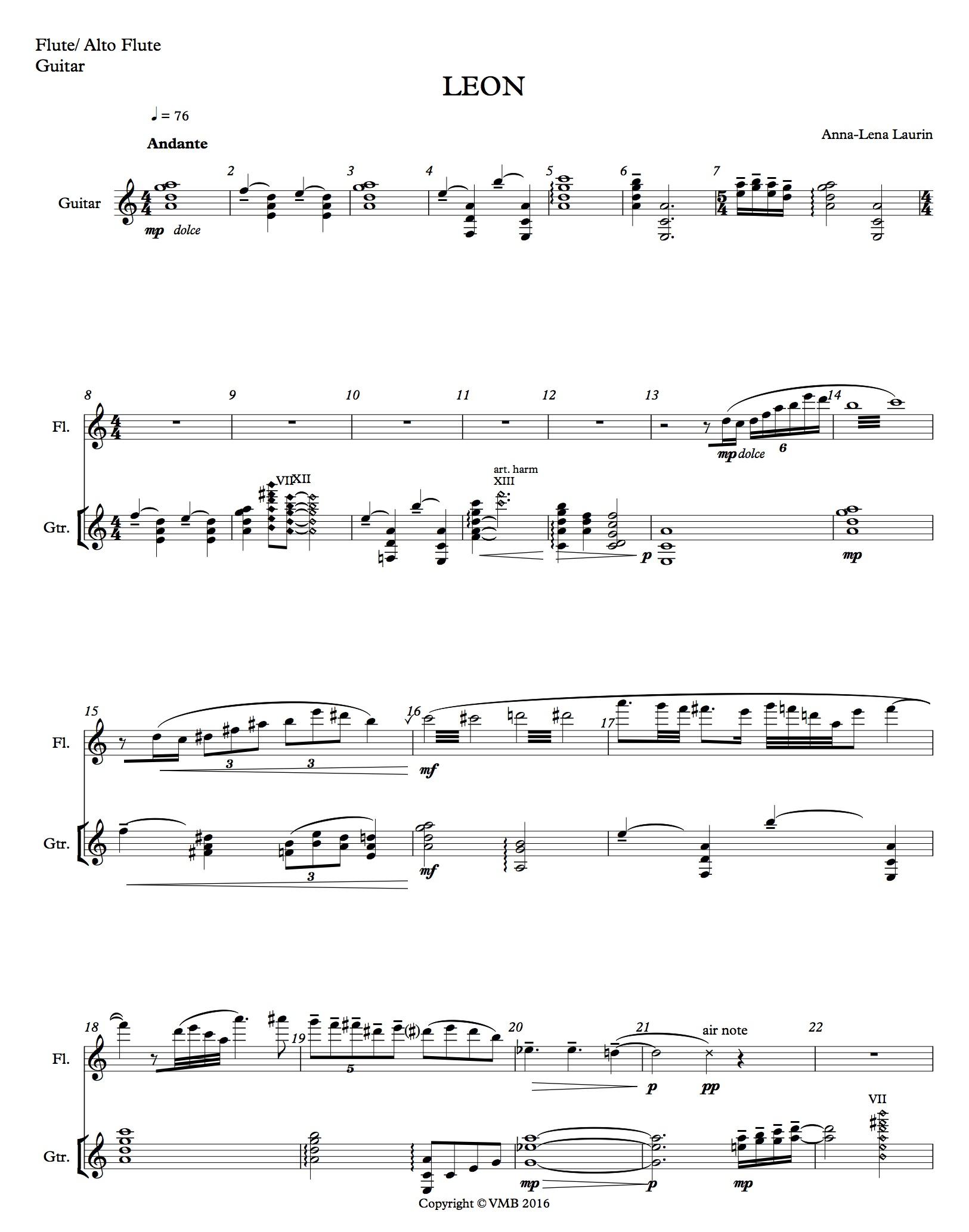Leon - Flute Alto Flute, Guitar